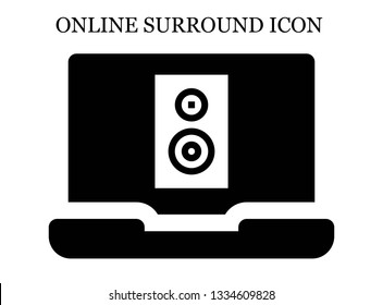 online Subwoofer icon. Editable online Subwoofer icon for web or mobile.