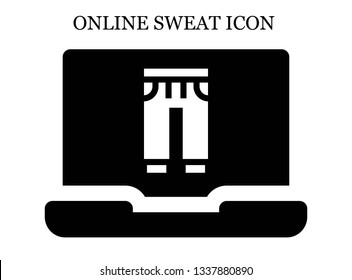 online Sweatpants icon. Editable online Sweatpants icon for web or mobile.