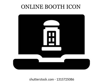 online Telephone booth icon. Editable online Telephone booth icon for web or mobile.