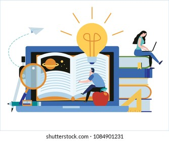 online training courses vector illustration.