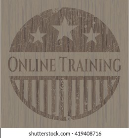 Online Training wood signboards