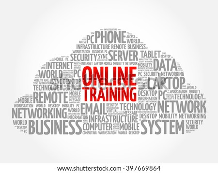 Online Training Word Cloud Concept Stock Vector (Royalty Free