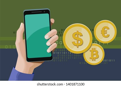 Online transactions using a smartphone
