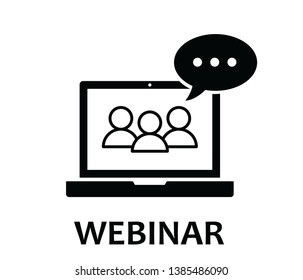 Online webinar icon vector on white background