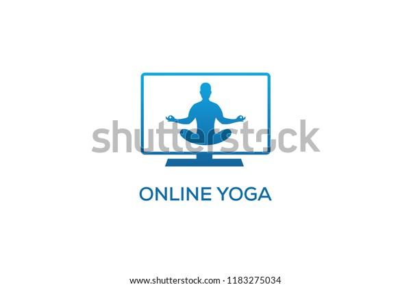 Online Yoga Logo Design Stock Vector Royalty Free 1183275034
