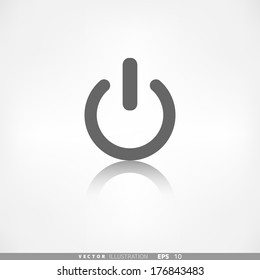 On/Off switch icon. Power symbol.