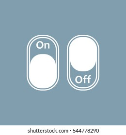 On/Off Switch Icon Vector flat design style