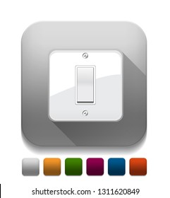 On/Off switch With long shadow over app button