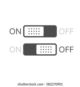 On/Off switch. Vector icon