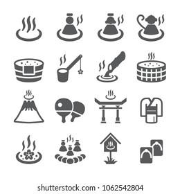 Onsen icon set