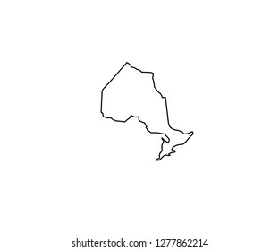 Outline Map Of Canada With Provinces And Capitals.Ontario Outline Images Stock Photos Vectors Shutterstock