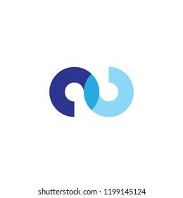 oo letter logo. au letter logo