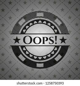 Oops! black badge