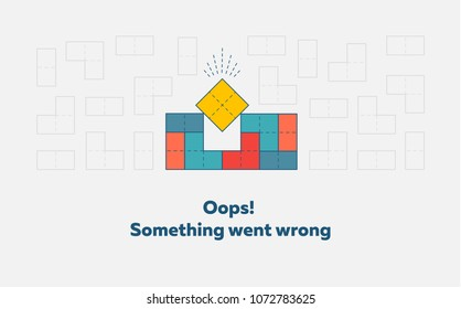 Oops Something went wrong. Error page concept. Vector illustration.