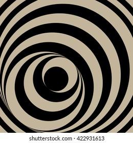 Op Art Circles Vector Abstract stripe torsion twisting