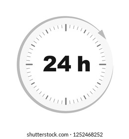 open 24 hours clock icon vector illustration EPS10