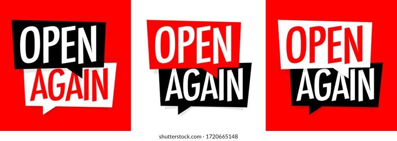 Open again on speech bubble