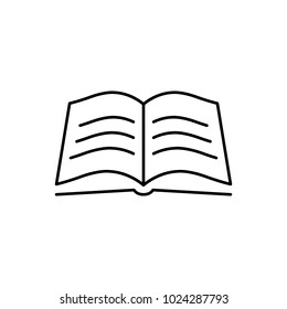 open bible book line black icon stock vector royalty free