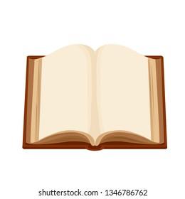 open blank book, vector
