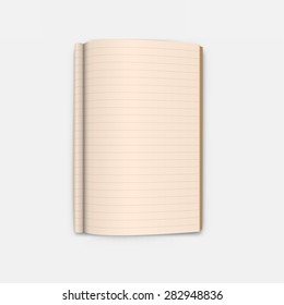Open Blank Page notebook vector