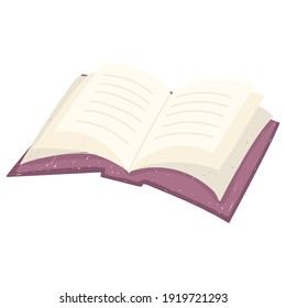 open book academic read learn vector illustration white background