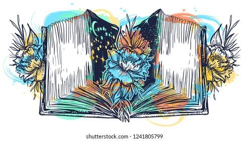 Open book art
