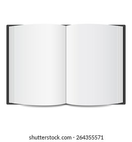 open book blank mock up. vector illustration