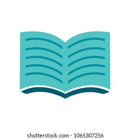 Open book icon. education book isolated - school literature, magazine illustration isolated