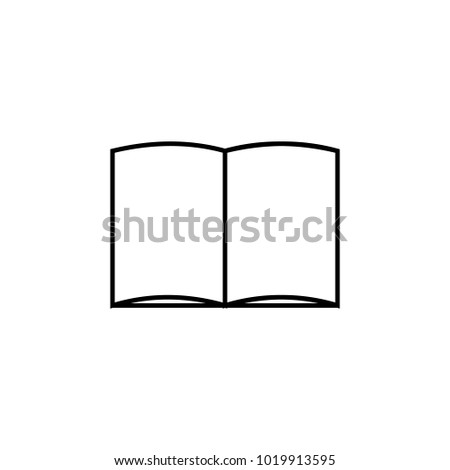 Open Book Icon Element Mobile Concept Stock Vector (Royalty