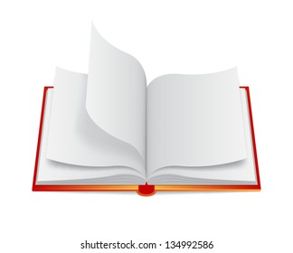 Open book icon. EPS10 vector