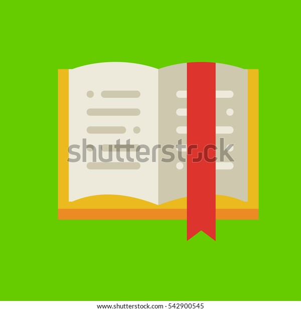 open book icon flat disign