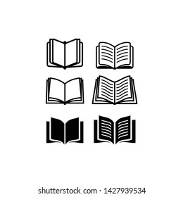 Open book icon isolated on white background. Open book vector icon simple and modern flat symbol for web site, mobile, logo, app, UI. Open book icon vector illustration, EPS10.