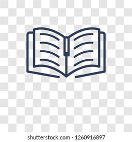 Open Book icon. Trendy Open Book logo concept on transparent background from Science collection