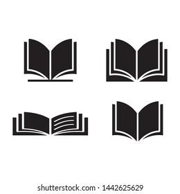 open book icon vector design template