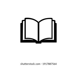 Open book icon vector on white background