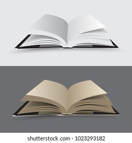 Open book - isolated vector illustration