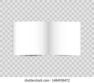 Open book on a transparent background. Sheets with books on a transparent background.