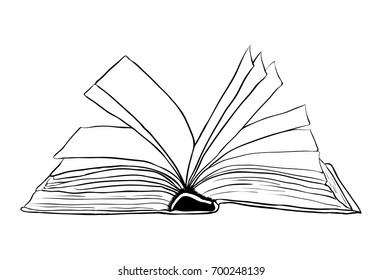 open book  outline vector symbol icon design. Beautiful illustration isolated on white background