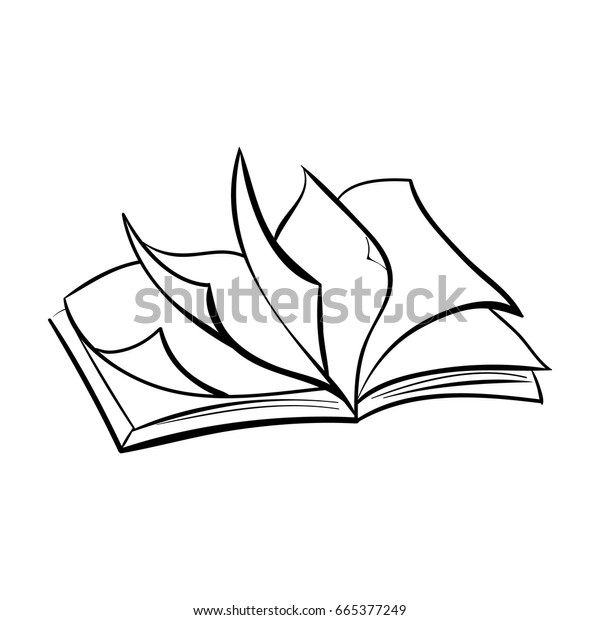 Open Book Poster Isolated Template Illustration Stock Vector