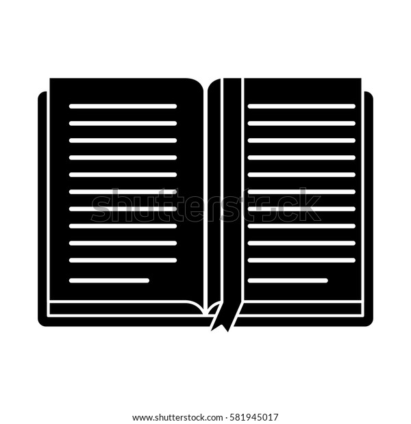 open book school learning library pictogram