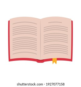 open book with separator over white background, flat style, vector illustration