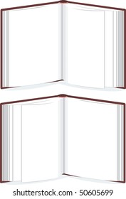open book, standing book template, vector without gradients