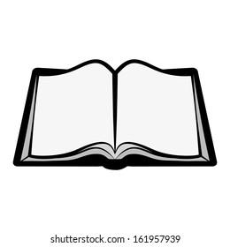 Open book, book vector