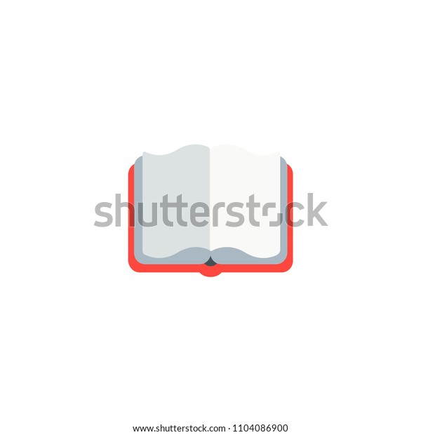 Open Book Vector Flat Icon