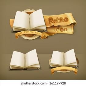 Open book, vector icon