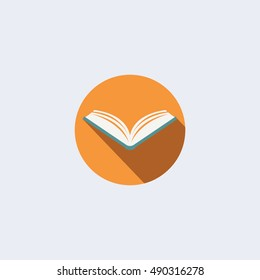 Open book vector icon