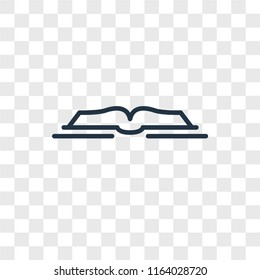 Open book vector icon isolated on transparent background, Open book logo concept