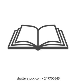 Open book vector icon on a white background