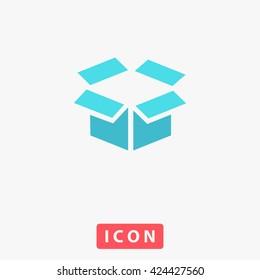 Open box Icon Vector.