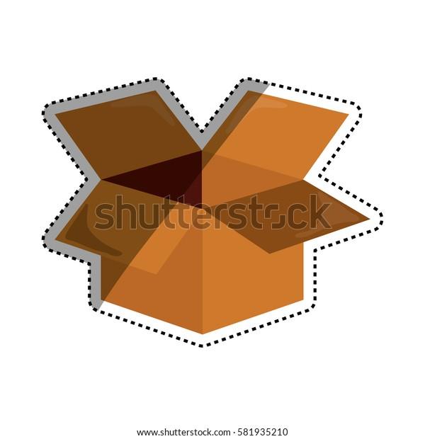Open box isolated icon vector illustration graphic design
